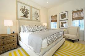 Yellow Striped Rug Gray And Yellow Bedroom Cottage Bedroom Alys Beach