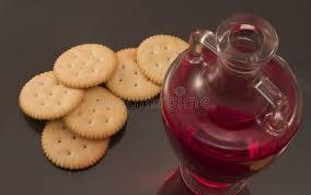 communion cracker communion wine and wafer stock image image of glass communion