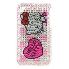 Kitty Phones Kitty Iphone Case Silver Pink Crystals