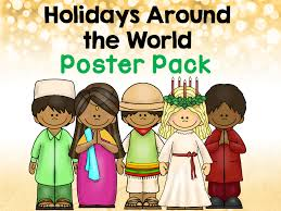 winter holidays around the world clipart collection
