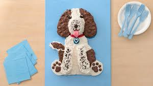 dog cake springer spaniel dog cake recipe bettycrocker