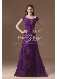 purple wedding dress sleeves appliques scoop neckline purple wedding dress for