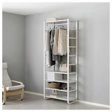 no closet solution elvarli 1 section white 84x40x216 cm storage closet rooms and