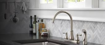 satin nickel centerset all metal kitchen faucets single handle