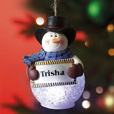 light up snowman personalized ornament colorful images