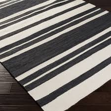 Black And White Stripped Rug Brown And White Striped Rug Rug Designs