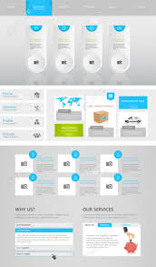 business website template design clean and simple homepage royalty