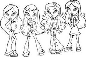 coloring pages coloring pages bratz dolls allcolored