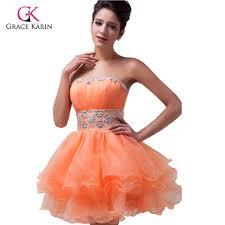 aliexpress com buy 2017 new grace karin mini ball gown orange