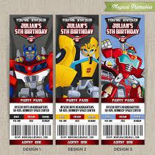 transformer birthday template transformer birthday invite with high