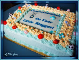 baby shower half sheet cake sports themed white cake fille u2026 flickr