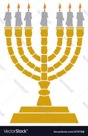 menorah candle holder menorah candlestick royalty free vector image