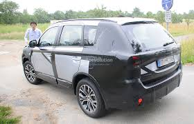 mitsubishi crossover 2015 2015 mitsubishi outlander spied again this time in europe