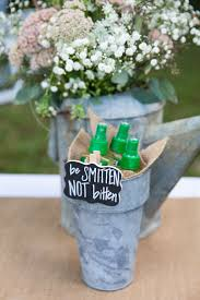 rustic wedding bug spray bucket sign wedding signs pinterest