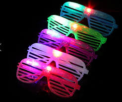 Kids Light Halloween Costume Led Light Eyeglasses Glow Costume Toys Party Rave