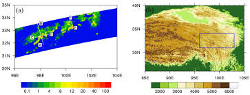 Tibetan Plateau Map Atmosphere Free Full Text A Case Study Of A Heavy Rain Over
