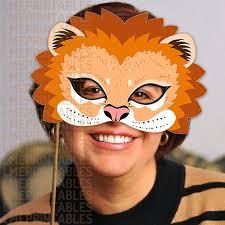 lion mask lion mask printable animal masks childrens party pdf
