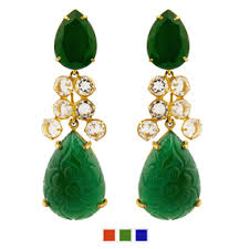 green earrings bounkit earrings