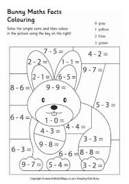 coloring pages math worksheets bunny maths facts colouring page learn and play pinterest