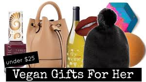 10 vegan gift ideas for her under 25 youtube