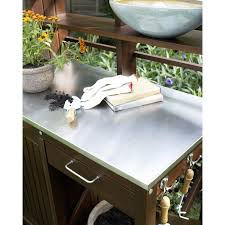 belham living winfield acacia wood potting bench hayneedle