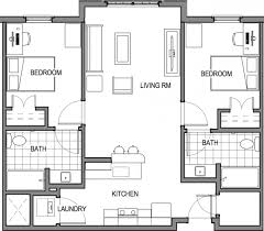 2 bed 2 bath floor plans bedroom 2 bath east