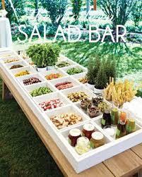 buffet pour cuisine idée de buffet pour votre mariage le salad bar idées de