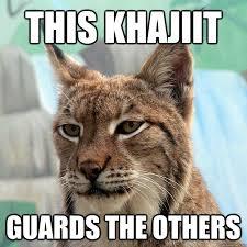 Khajiit Meme - this khajiit guards the others khajiit quickmeme