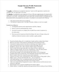 Resume Goal Statement Examples by Job Objective Statement Beautifully Idea Resume Objective