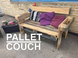 Seating Out Of Pallets by How To Make A Nice And Easy Upcycle Pallet Couch Youtube