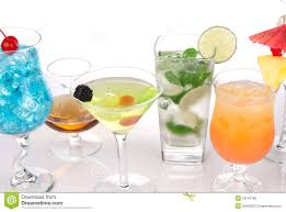 many cocktails with alcohol mojito martini stock photography