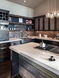 Wood Backsplash Kitchen Reclaimed Wood Backsplash Houzz