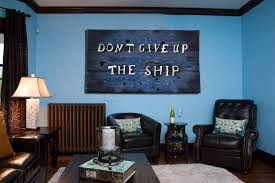original home decor don t give up the ship original version distressed wood home