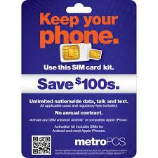 metro pcs prepaid card metropcs byod sim activation kit walmart