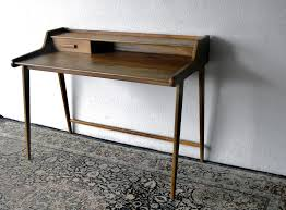 Small Modern Desk Furnitures Brown Writing Desk Style Small And Simple Design