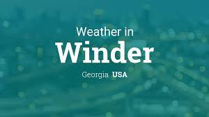 weather for winder georgia usa