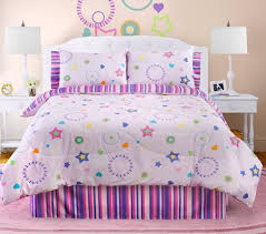 Girls Bed In A Bag by Pink Purple Stars U0026 Stripes Girls Bedding Twin Full Comforter Set