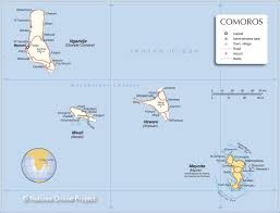 map comoros administrative map of comoros nations project