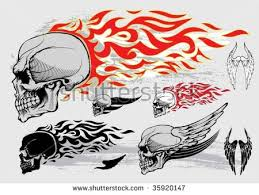 winged skull vector free vector stock graphics