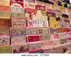 greetings cards on sale in a morrisons supermarket stock photo