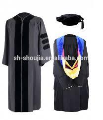 black graduation cap and gown matte college graduation cap and gown hot style high quality
