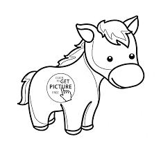 cute little horse pony coloring page for kids for girls coloring