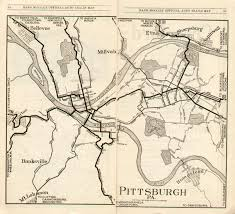 Erie Pennsylvania Map by Pennsylvania In Old Road Atlases 1921 1925