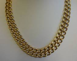 chain link necklace images Chain link necklace etsy jpg