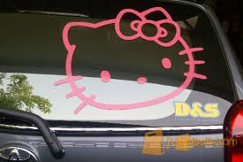 stiker kaca belakang kitty surabaya jualo