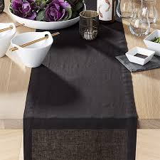 crate and barrel table runner helena black linen 90 table runner reviews crate and barrel