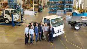 volvo gm heavy truck corporation first chevrolet medium duty truck rolls off assembly line at