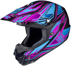blue motocross gear hjc cl x6 fulcrum womens motocross mx atv dirt bike helmets