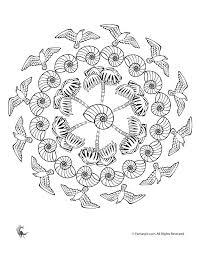 fall mandala coloring pages kids adults woo jr kids