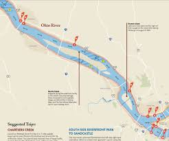Ohio Rivers Map by Canoe What Are The Navigation Considerations On The Ohio River